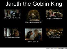 jareth and sarah | Jareth the Goblin King... - Meme Generator What i do
