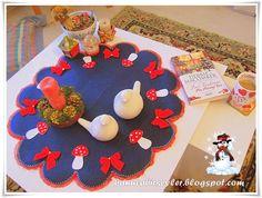 felt table cloth for new year