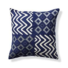Our Four Square Indigo Outdoor Pillow takes cue from architectural design, adding dimension to your outdoor space. The quadrant design is finished with a    sleek knife-edge. The Sunbrella fabric is woven, not printed, to retain its luster and lively pattern season after season.                        100% Sunbrella solution-dyed acrylic fabric                                   Reverses to solid back                               Finished with a clean knife edge                           ...