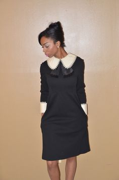 Headed my way! 1950's black & white Paul Parnes Estate dress