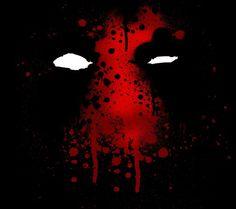 Deadpool face spray painted
