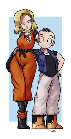 Post with 61 votes and 2523 views. Tagged with anime, fanart, dragonball z, krillin, android Shared by HypocriticalBastard. Krillin and 18 - Clothing Switch Android 18 And Krillin, Krillin And 18, Dragon Ball Z, The Last Avatar, Couple Cartoon, Best Waifu, Naruto Art, Cute Art, Anime Art