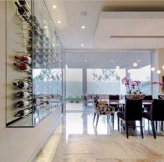 Perfect wine storage glass case - dining room