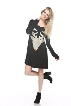 Rudolph the Glitter Reindeer Tunic – Jess Lea Boutique #JessLeaBoutique