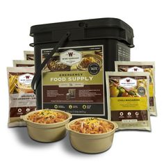 56 Serving Wise Company Emergency Breakfast and Entree Grab and Go Food Kit