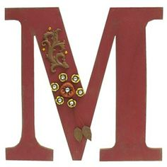red rustic wood letter m shop hobby lobby