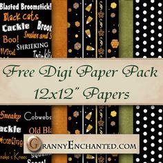 "Free Digital Scrapbook Paper: ""34 Autumn "" Paper Pack |"