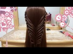 Peinados Faciles y Modernos - Trenza Red Para Cabello Largo Paso a Paso - YouTube