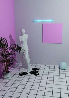 Joshua Keeney spills the tea on his alter ego and nostalgia — for Designers Vaporwave Wallpaper, Art Vaporwave, 80s Interior Design, Arte Alien, Neon Room, Neon Aesthetic, Retro Waves, Glitch Art, Grafik Design