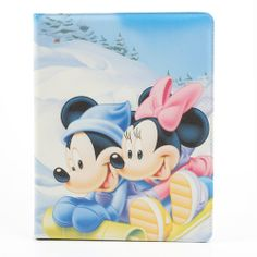 #Minnie #Mickey Leather Case w/ Stand for #iPad 2 / 3 / 4