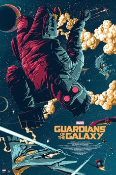 Grey Matter Art will sell this incredible Guardians of the Galaxy poster by Florey later this week. It's a 24″ x 36″ screenprint, has an edition of 225, and will cost $45. The variant has an edition of 150 and will cost $55.