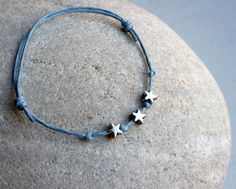Little Stars Bracelet - Star Anklet (24 colors to choose). $5.25, via Etsy.
