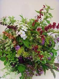 Herb & wild flower wedding bouquet