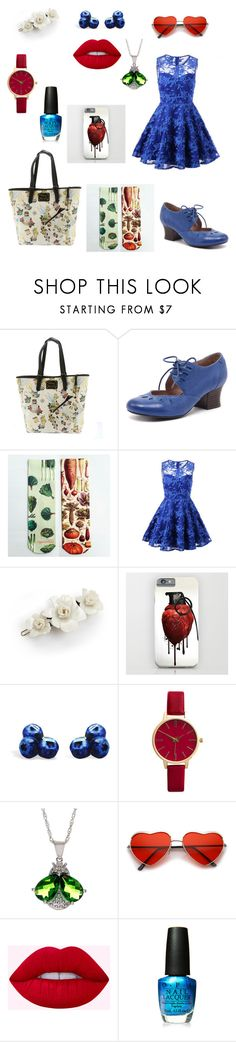 """""""If You Go Out In The Woods Today..."""" by tofumint ❤ liked on Polyvore featuring Loungefly, Miz Mooz, L. Erickson, OPI, Summer, forest and contestentry"""