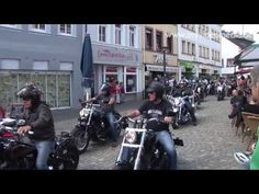 Harley Davidson as far as the eye can see - Hundreds of Harley Davidson bikers arrived on Saturday (10.08.2013) at the market square and the surrounding streets in Wittlich. #harley #video