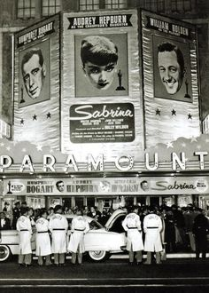 Premiere de Sabrina avec Audrey Hepburn, 1954.