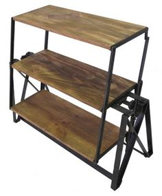 Small Folding Shelf and Table - Open Shelving - Shop Nectar - 1