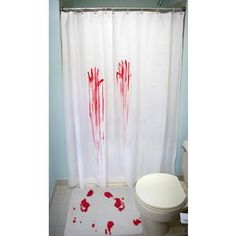 I found 'Horror Movie Shower Curtain & Bath Mat' on Wish, check it out!