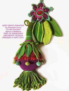 Daniela Cerri: Crochet: GIPSY FRUIT PARADISE per Opera Collettiva: FREE OF FORBIDDEN FRUIT ad Abilmente OMAGGIO ALL'EXPO 2015 Milano