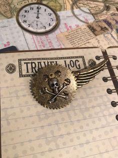 Pinback Buttons Badges Pins Copper Bronze Gear Clock Lapel Pin Brooch Clip Trendy Accessory Jacket T-Shirt Bag Hat Shoe