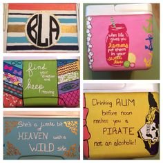 Cooler with collage front, country song quote, ECU pirate theme and mason jar side