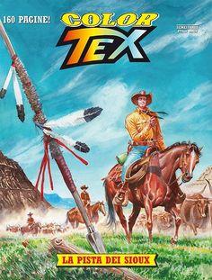 Capa do Color Tex nº 9, La pista dei Sioux
