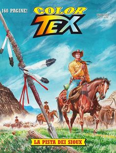 Capa do Color Tex nº 9, La pista dei Sioux