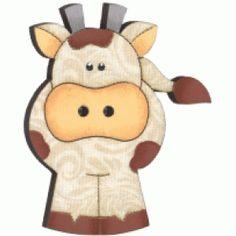 Botão de mdf forrado com tecido de Vaca cor 273