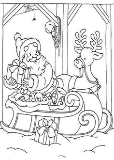 Christmas Coloring pages. Select from 32015 printable Coloring pages of cartoons, animals, nature, Bible and many more. Deer Coloring Pages, Free Printable Coloring Pages, Adult Coloring Pages, Coloring Pages For Kids, Coloring Books, Christmas Crafts For Kids, Christmas Colors, Christmas Art, Merry Christmas Coloring Pages
