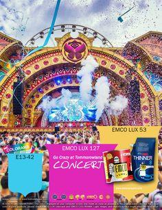 Kawan EMCO, festival musik dunia selalu menjadi hal yang menghebohkan dan banyak diminati kaum muda. Yuk kita hadirkan gebyar warna-warni festival Tomorrowland 2016 di Belgia dengan pilihan warna EMCO LUX 127, EMCO LUX 53 dan E13-42 pada palet EMCO. Untuk artikel menarik lainnya silakan cek di http://matarampaint.com/news.php