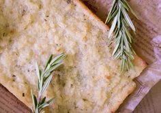 """the best bread ever"" Paleo AIP Vegan Cassava Bread from Flash Fiction Kitchen, with Rosemary"