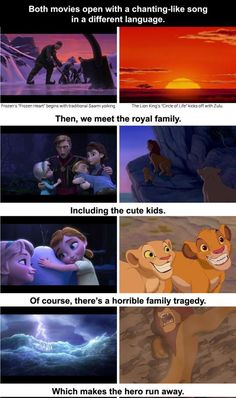 Frozen And The Lion King Are The Same Movie