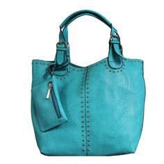 """Faina"" 3 in 1 Studded Tote"
