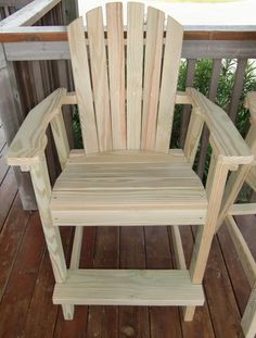 high adirondack chair plans - Google Search