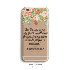 H121- BUT HE SAID TO ME MY GRACE IS SUFFICIENT - Religious phone cases with Bible Verse Scripture