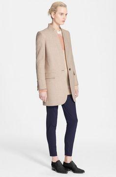 Stella Mccartney Women's Melange Melton Wool Blend Coat | Clothing