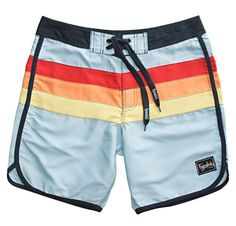 Once again, it's that happy time of year when you can slip on a pair of Vans, sunglasses, and this new pair of Nostalgic board shorts by Fyasko. Swim Shorts Women, Jordan Boys, Teen Boy Fashion, Surf Shorts, Surf Wear, Mens Boardshorts, Swim Trunks, Outfits For Teens, Sport Outfits