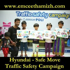 Safe Move Traffic Safety Campaign Organized by Hyundai Motor India Foundation along with Government of India, Ministry of Road Transport and Highways.  At Bhuvaneswari Apartments, Annanagar.  PC : Thank you Suresh :)  #Hyundai #Road #Safety #Campaign #Apartments #Activity #Trudo #Robopoli #Amber #emceeing #Games #entertrainment #Kids