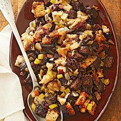 Pumpernickel-Cherry Stuffing From Better Homes and Gardens, ideas and improvement projects for your home and garden plus recipes and entertaining ideas.