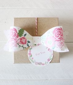 Floral Polka Dot Bows (in 4 colors)