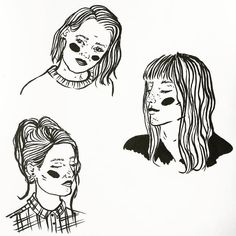 Few ink ladies I've been drawing this morning _________________ #illustration #illustrator #illustrate #ink #brush #brushpen #lineart #blackandwhite #monochrome #women #femaleillustrator #girls #feminist #handdrawn #handmade #create #deaign #draw #drawing #experiment #progress #detail #portrait #hair #etsy #craft #sketch #sketchbook