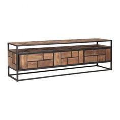 Tv-meubel van gerecycled teakhout 55x160 cm