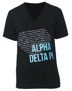 Adam Block Design » Alpha Delta Pi Diamond V-Neck