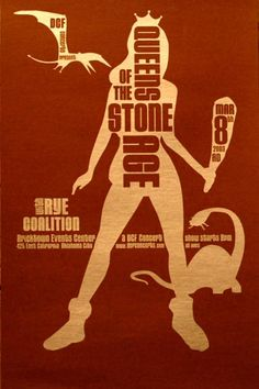 Queens Of The Stone Age / Rye Coalition - Concert Poster (Oklahoma 2003)