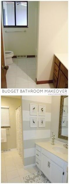 Bathroom Transformation, so easy!