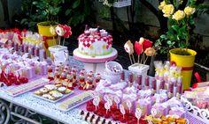 TUDO PRA SUA FESTA: Decoração para festa de aniversário infantil Tema Lanche com as amigas