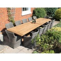 The thick table top, chunky legs and solid bottom stretcher that runs the length of the table and is supported at intervals by chunky uprights mean you're guaranteed a dining table that will last for years of regular use.