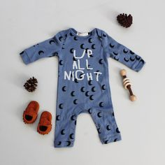 up all night - baby romper
