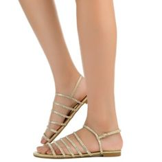 158ed2f1f Bamboo Women s Magical-54S Strappy Flat Sandal. Silver Sandals ...