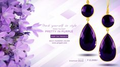 Deck yourself in style with JANGADI 's Amethyst stone Earrings Visit the following link for more details on this product http://jangadi.com/#product/sku/360 ‪#‎gojangadi‬ ‪#‎jangadi‬